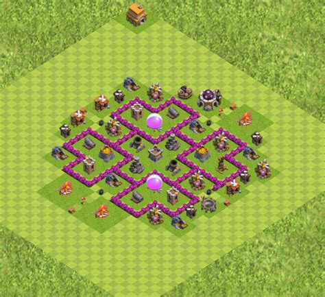 kumpulan wallpaper game coc th 6 base farming