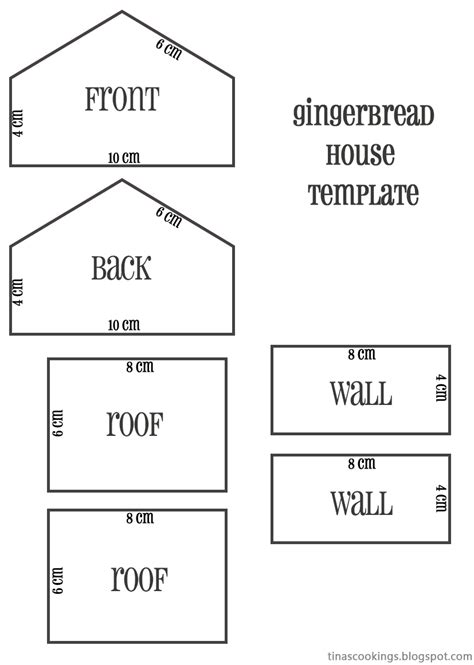 large gingerbread house template printable tina s cookings