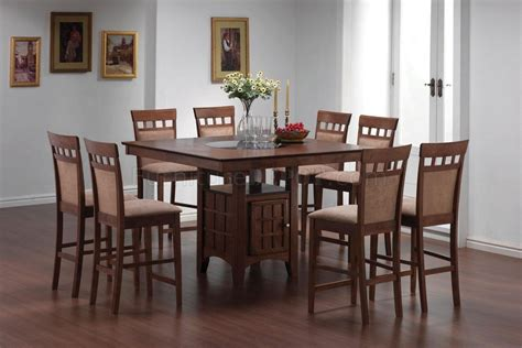 gabriel counter height in walnut dining table w optional