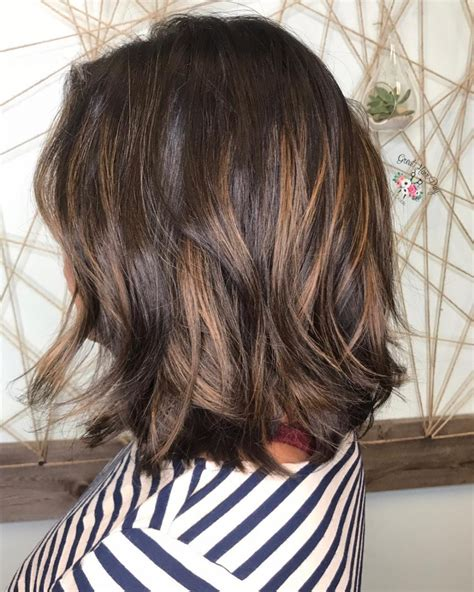 black bob with brown highlights dark hair caramel highlights www pixshark com images
