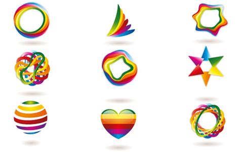 graphics design using c 3d art logo free vector logo template