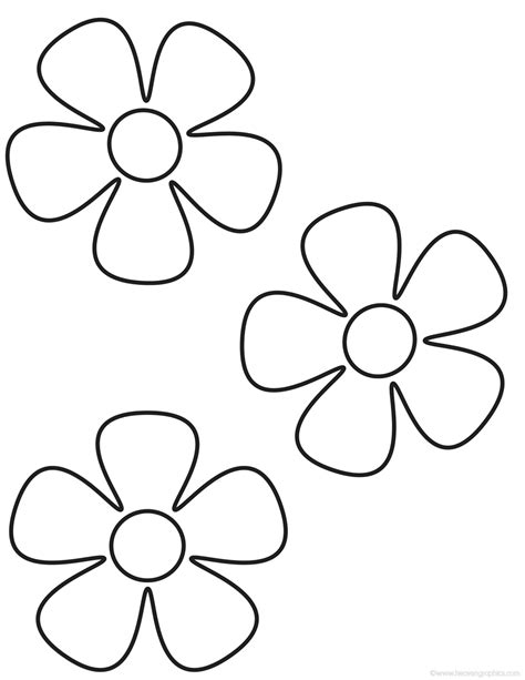 coloring page flower 5 petal flower coloring page best photos of template flower petal