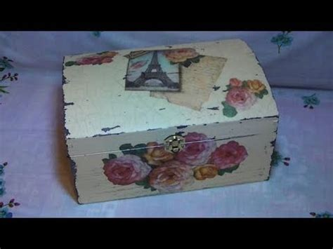 tutorial per decoupage tutorial decoupage su bauletto di legno con carta di riso