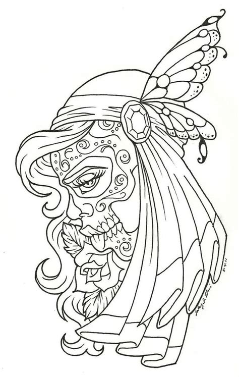 sugar skull coloring page coloring home