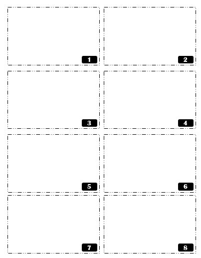 Card Sort Template 4x2 by Radical 4 Math June 2016