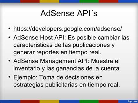adsense management api todas las apis de google