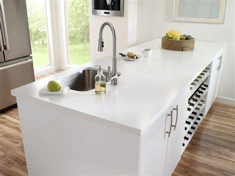 White Corian Material 199 Imstone Mutfak Tezgahı Asmermer