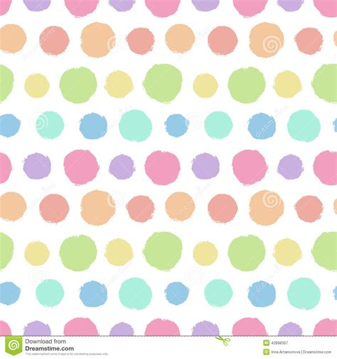 polka dot template seamless pattern with painted polka dot texture stock