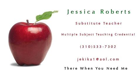 8 best substitute teacher images on pinterest business cards