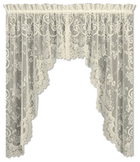 victorian swag curtains english ivy swag pair ecru victorian valances by