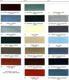 Cadillac Color Chart 1966 Cadillac Exterior Paint Chip Palette