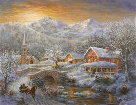 winter merriment fine art print by nicky boehme at