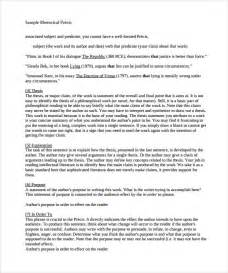 sample rhetorical precis template 10 documents in pdf