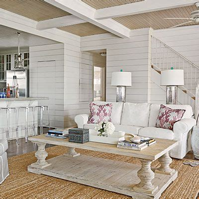 White Living Room Table Galveston Bay Home Makeover Homes Galveston And Before After