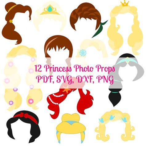 printable disney princess photo booth props princess party photo booth props printable princess hair