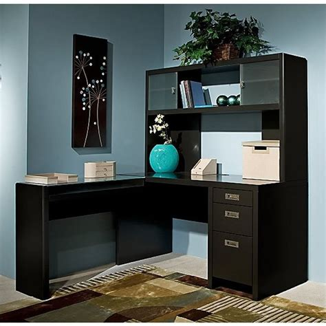 office desk with hutch l shaped kathy ireland by bush new york skyline l shape desk with