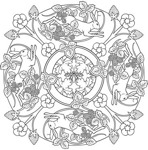 nature mandala coloring pages printable dover publications picmia