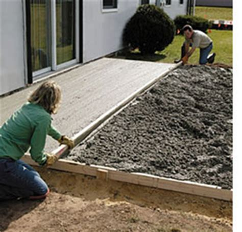 How To Lay A Patio On Concrete by Home Dzine Home Diy How To Lay A Diy Concrete Patio