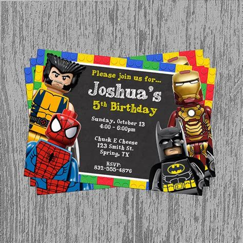 superhero birthday invitations free new invitations