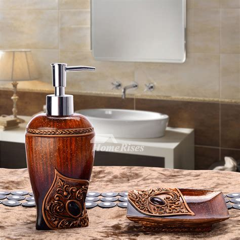 Inexpensive Bathroom Accessories 2 Cheap Bathroom Accessories Sets Resin