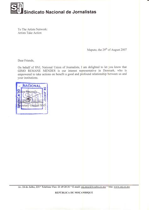 Guarantee Letter For Material Gimo Mendes News