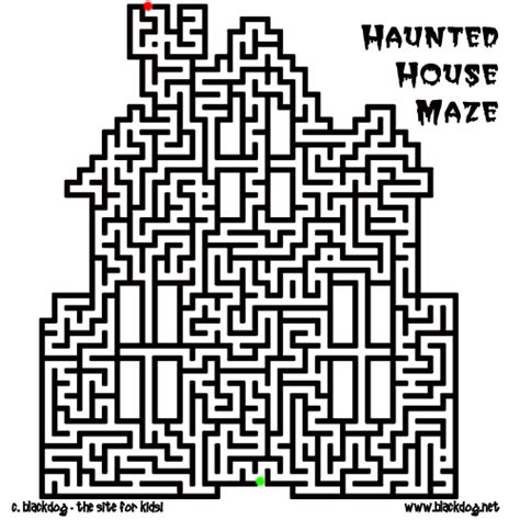 printable corn maze halloween mazes