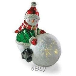fiber optic snow day snowman set of 2 life size christmas