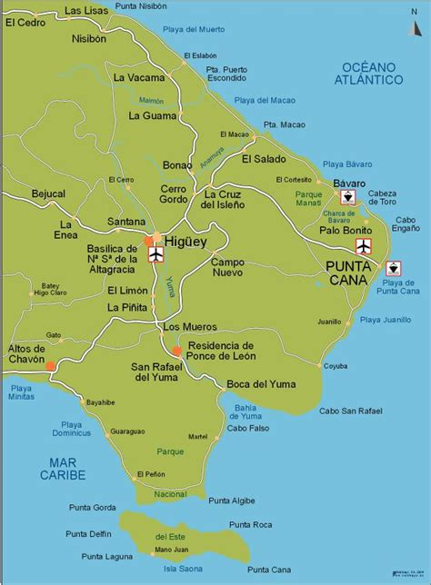 map of punta cana punta cana city map