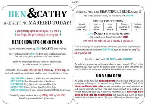 funny wedding programs on pinterest funny wedding