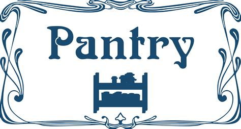 Pantry Signs by Clipart Pantry Door Sign