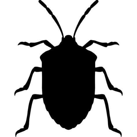 Ie8 Outline Bug by Stink Bug Insect Shape From Top View Icons Free
