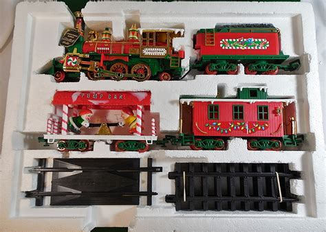 new bright musical christmas express toy train set 183