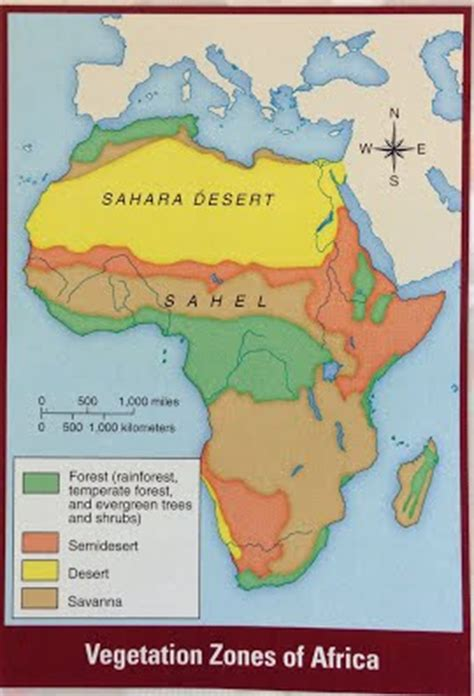 africa map vegetation zones west africa mr ph s world history