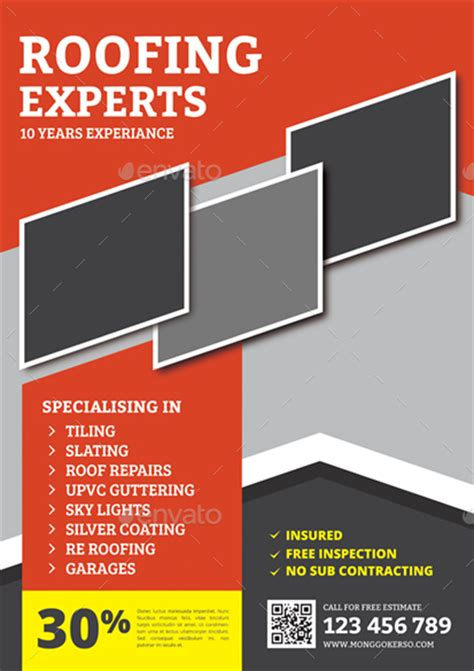 Roofing Flyer By Monggokerso Graphicriver Roofing Flyer Templates