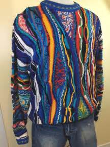 colorful sweaters vintage coogi mens mercerized cotton 3d colorful biggie