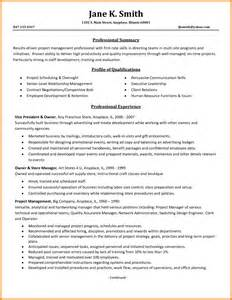 sle resume objective statements for project manager