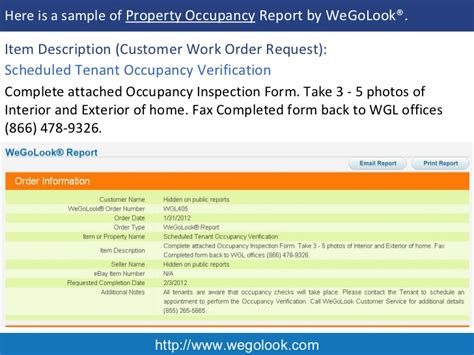 occupancy report template property occupancy inspection and verification sle report