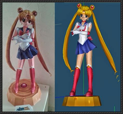 Sailor Moon Papercraft - sailor moon ver 2 free papercraft