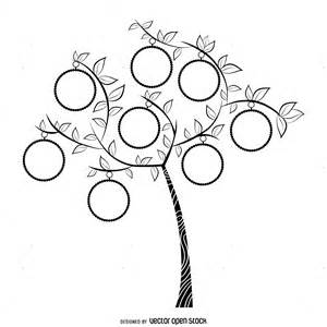 draw a family tree template simple b w family tree template free vector