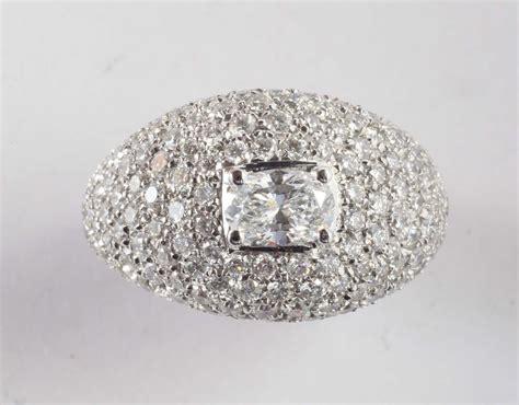 pave di diamanti anello con pav 232 di diamanti per ct 4 circa orologi e