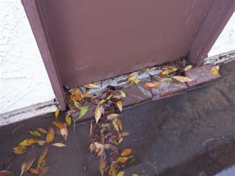 Drain In Front Of Garage Door by Drainage Issues On Concrete In Front Of Garage Side Door