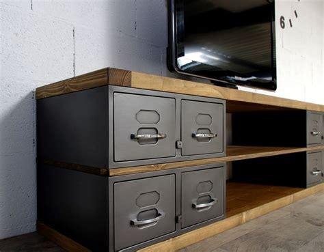 les 25 meilleures id 233 es concernant meuble tv industriel sur meuble tv en m 233 tal
