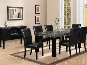 Black Dining Room Furniture Sets Soft Black Dining Room Sets Interior Decorating Ideas