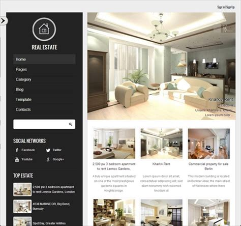 templates for property website 20 top real estate website templates make a difference
