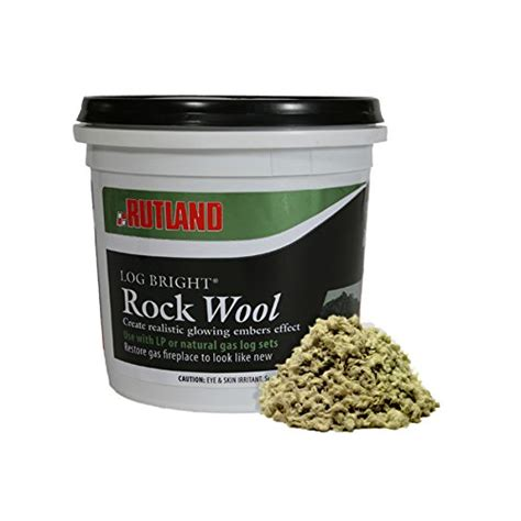 rutland 587 bright rock wool for gas log lowes lowes