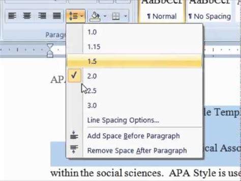 apa format line spacing dr dan formatting line spacing in apa style youtube