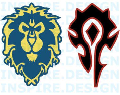 world of warcraft patch logos world of warcraft alliance and horde shot glass set