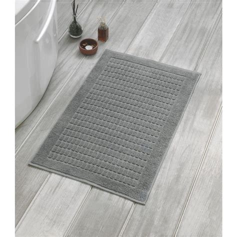 Bath Mat Sets Grey Berrnour Home Solomon Collection 20 In W X 31 In H 100