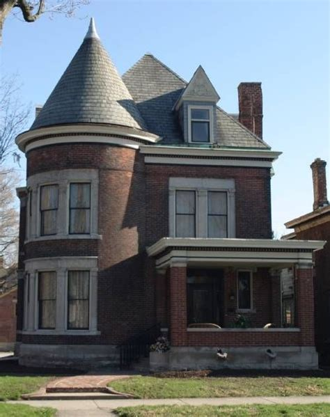 Queen Anne Victorian by Brick Queen Anne House In Indiana Victorian Homes