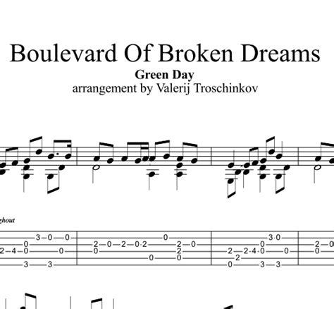 boulevard of broken dreams green day karoke buy boulevard of broken dreams green day notes and tabs